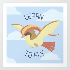 Pidgeot  learn to fly Art Print