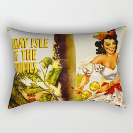 Cuba Holiday Isle of the Tropics Rectangular Pillow