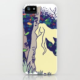 Lady in the woods iPhone Case
