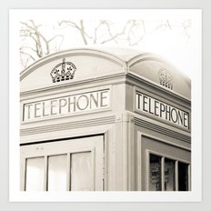 London telephone booth Art Print