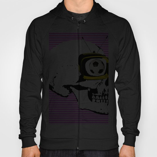 Football Mind - a round thing in the TV eye v2 Hoody