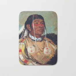 Sha-có-pay, The Six, Chief of the Plains Ojibwa by George Catlin Bath Mat