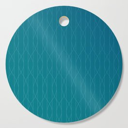 Wave pattern in teal Cutting Board