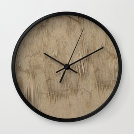 Feathered Wood Wall Clock