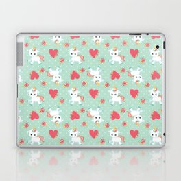 Baby Unicorn with Hearts Laptop & iPad Skin
