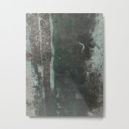 Copper Green Concrete Metal Print