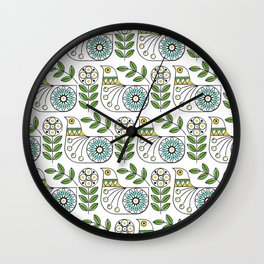 Mid Century Danish Bird Wall Clock