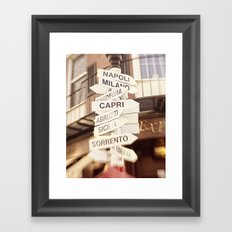 Lead me to Italy Framed Art Print