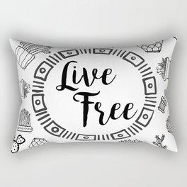 Live Free Pen Sketch Rectangular Pillow