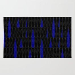 Midnight Rain - (Hexagonal Tiling) Rug