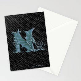 """Dragon Letter N, from """"Dracoserific"""", a font full of Dragons Stationery Cards"""