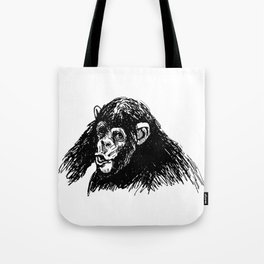 Hand sketch of a young chimpanzee Tote Bag