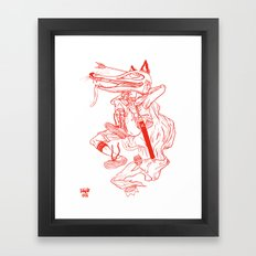 Escape Of Fox King Framed Art Print