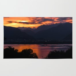 Locarno and Ascona at sunset Rug