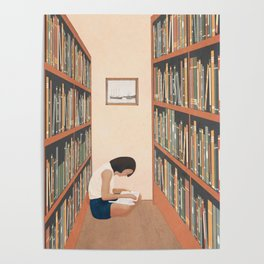 Getting Lost in a Book Poster