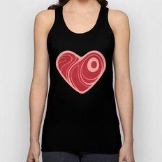 Meat Heart Unisex Tank Top