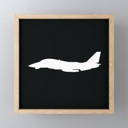 F-14 Tomcat Military Fighter Jet Aircraft Silhouette Framed Mini Art Print