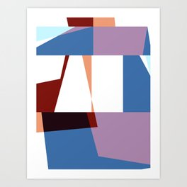 Abstract In White & Colors Art Print