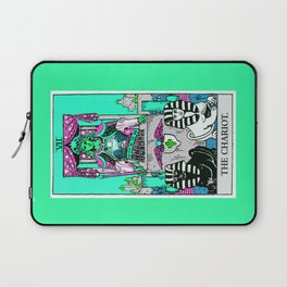 7. The Chariot- Neon Dreams Tarot Laptop Sleeve