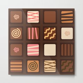 Chocolate Box Metal Print