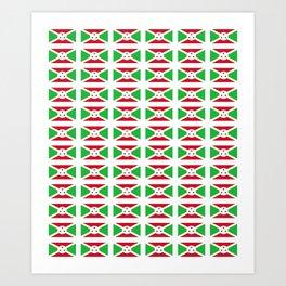flag of burundi-burundi, burundian,Uburundi, burundais,burundaise,bujumbura. Art Print