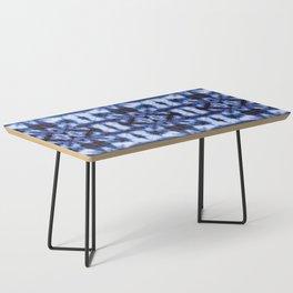 Blue Oxford Shibori Coffee Table