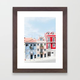 Colorful Buildings Framed Art Print