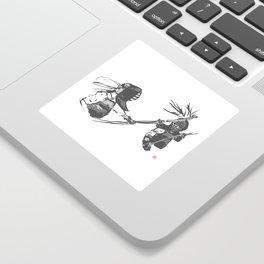 Naginata Sumi-E by Takemi Sticker