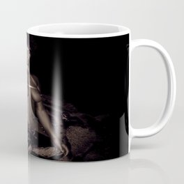 Black Queen Artistic Nude African American Woman  Rose  Coffee Mug