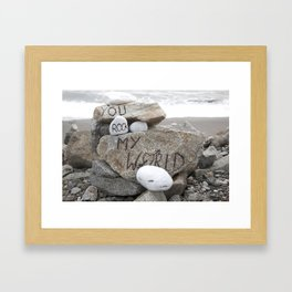 You rock my world Framed Art Print