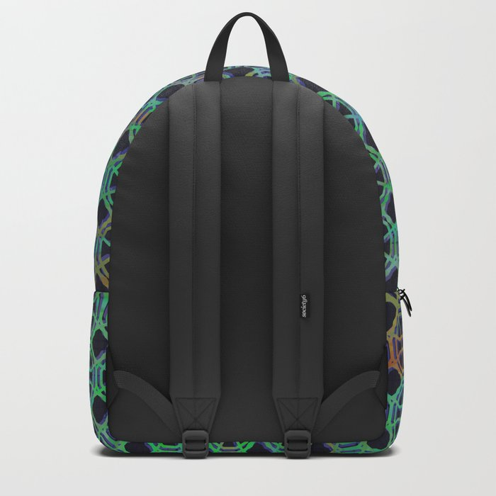 Green pattern Backpack