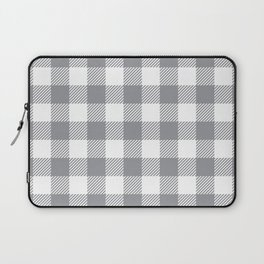 Buffalo Plaid - Grey & White Laptop Sleeve