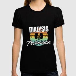 Dialysis Technician Retro Kidneys Nephrology Tech product T-shirt