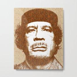Scrabble Muammar Gaddafi Metal Print