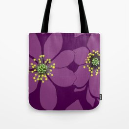 Violet flowers Tote Bag