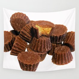 Mini Chocolate and Peanut Butter Treats Wall Tapestry