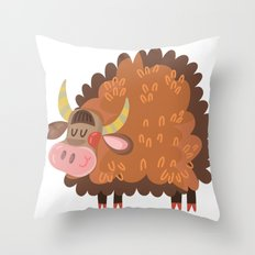 Cute Bull Throw Pillow