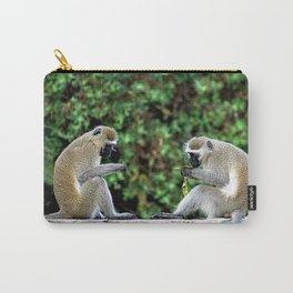 Vervet Monkeys Eating Bananas Carry-All Pouch