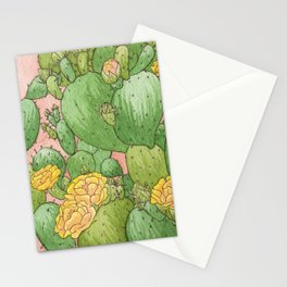 Prickly Pear Cactus Blossoms Stationery Cards
