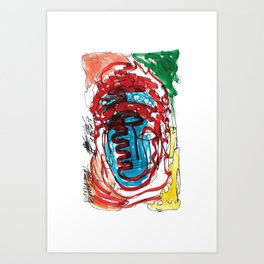 Buddah! head Art Print