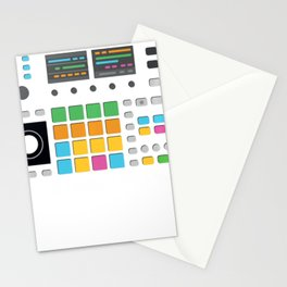 Make Beats Not War Drum Machine ravers festival Stationery Cards