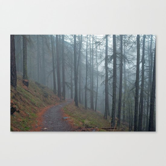 Forest vibes #foggy Canvas Print