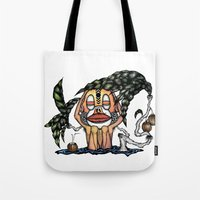bali Tote Bags featuring BALI MONKEY by ISSO