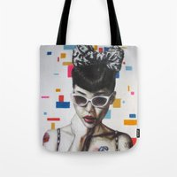 rockabilly Tote Bags featuring Rockabilly by Sath