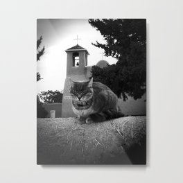 Praying Cat Metal Print