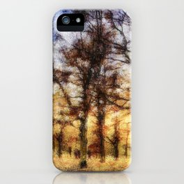Pastel Sunset Trees iPhone Case