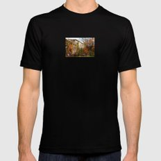 Somewhere in Rhode Island - Abandoned Mill 001  Black Mens Fitted Tee MEDIUM