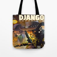 django Tote Bags featuring Django by Don Kuing