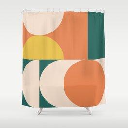 Abstract Geometric 3 (Desert Garden color themed) Shower Curtain