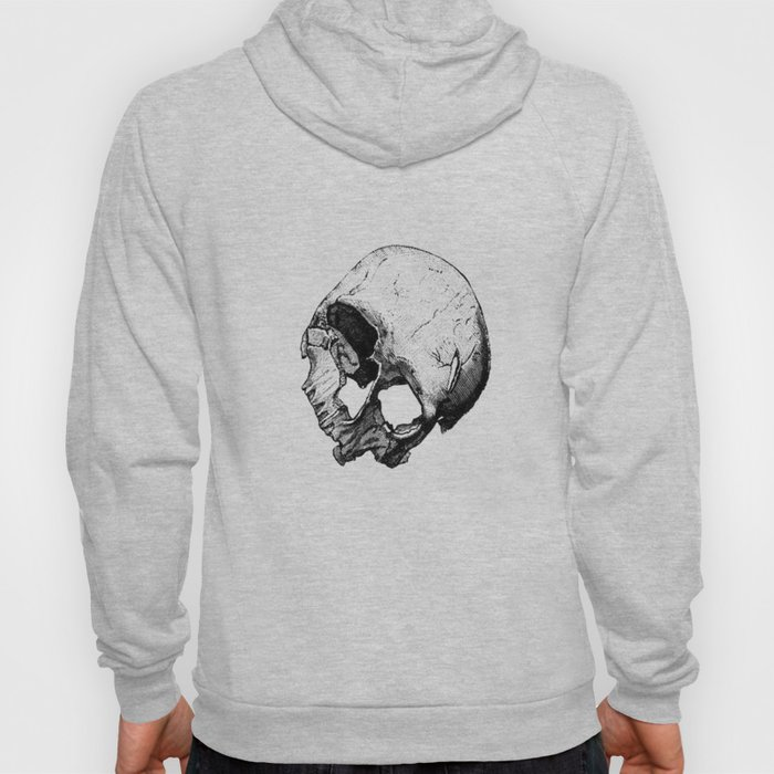Human Skull Vintage Illustration  Hoody